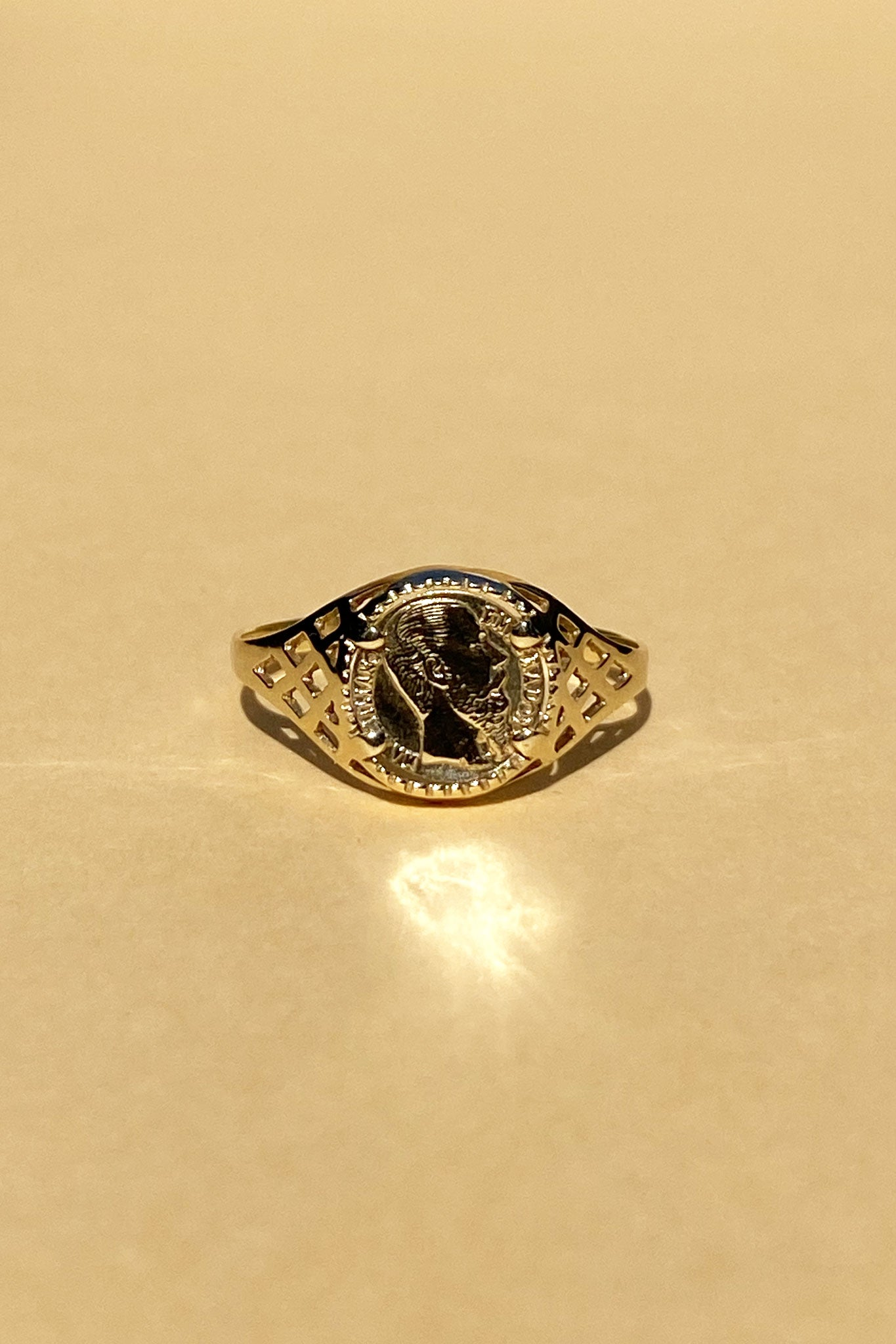 Aurum Mini Peso Coin Ring