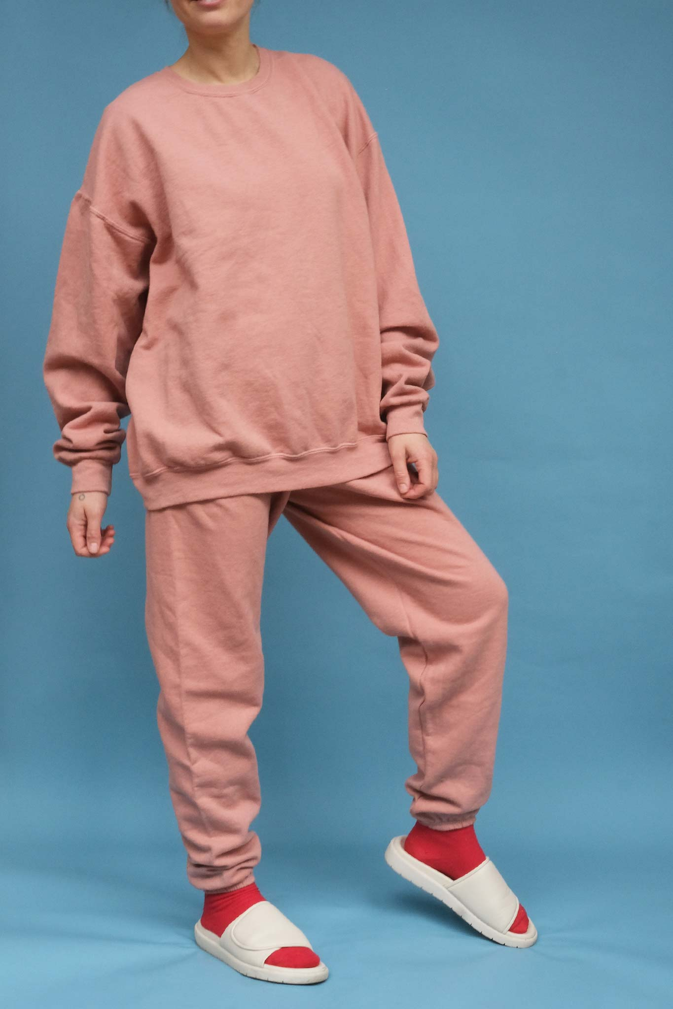 Salmon Hand Dyed Relaxed Fit Sweatshirt