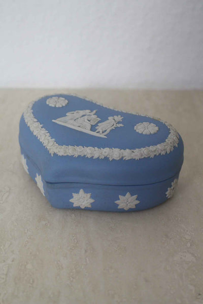 Wedgwood Heart Shaped Trinket Box