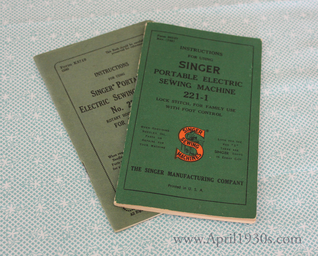 Singer Featherweight 221 222 Manual & Service Manuals – The Singer