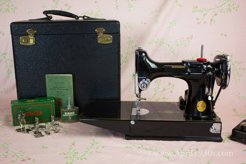 Singer Featherweight 40 And Its History Timeline The Singer Gorgeous 1947 Singer Featherweight Sewing Machine