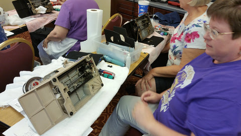 Servicing a Tan Singer Featherweight 221J Sewing Machine