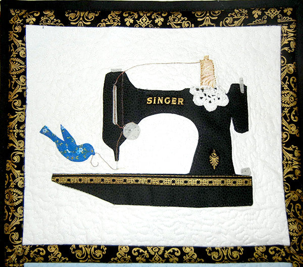 Flock of Singers Featherweight Wall Hanging Quilt