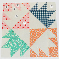 Chickenn Foot Block - Lori Holt Farm Girl Vintage Quilt - Sew Along with the Featherweight Shop