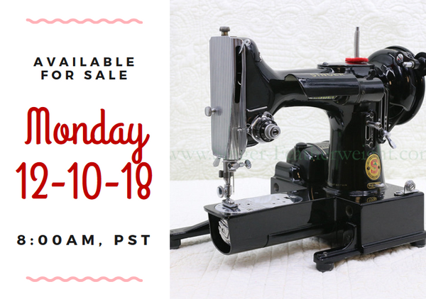 Day 10 - Singer Featherweight 222 For Sale - Christmas Sales