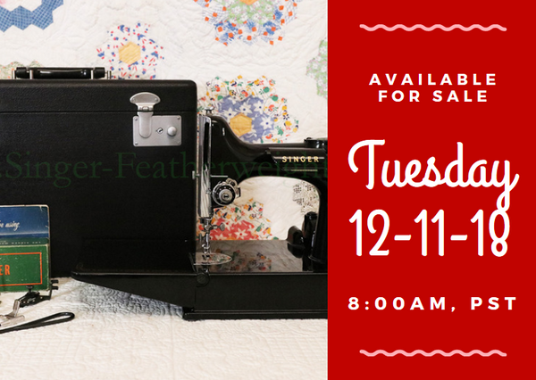 Day 11 - Singer Featherweight 222 For Sale - Christmas Sales