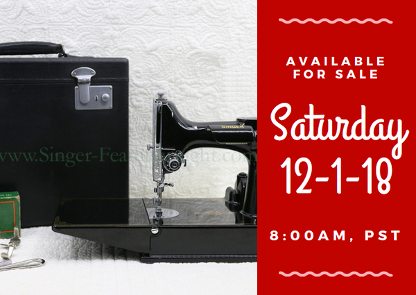 Day 1 - Singer Featherweight 222 For Sale - Christmas Sales