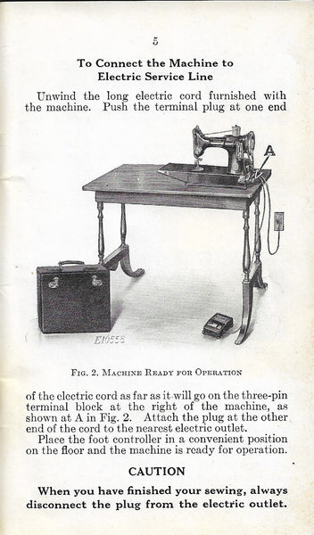 Singer Featherweight 221 Early Metal Foot Controller Manual Photo
