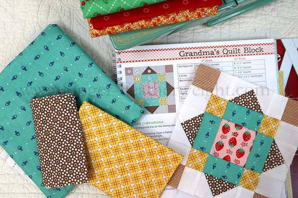 Blocks 18, 19, & 20 (Furrows, Gingham & Grandma's Quilt