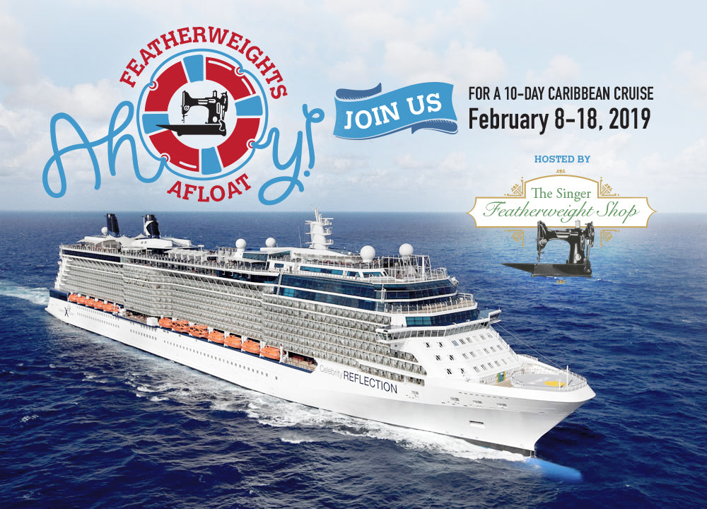 """Singer Featherweight Maintenance Caribbean Cruise """"Featherweights Afloat"""""""