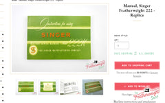 Singer 222 Featherweight Instruction Manual