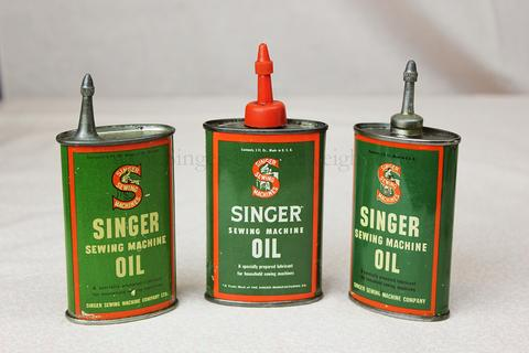 Singer Featherweight 221 and 222 Tall Green Oil Can