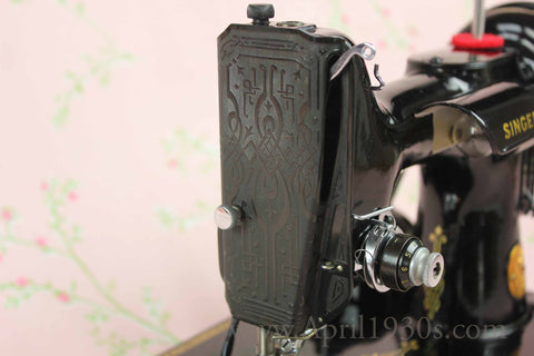 Singer Featherweight 221 Blackside Faceplate