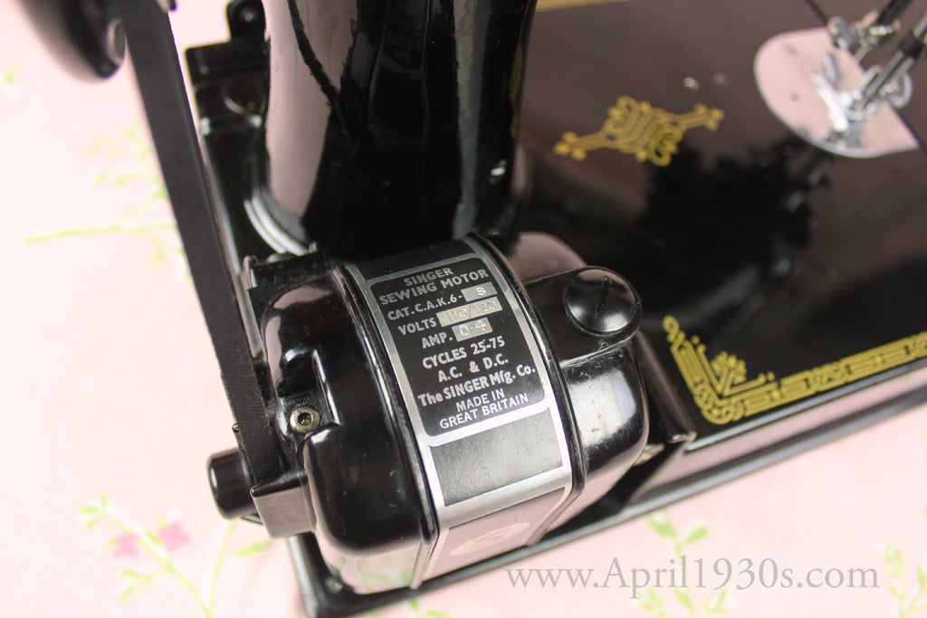 Singer Featherweight AP Motor Top View