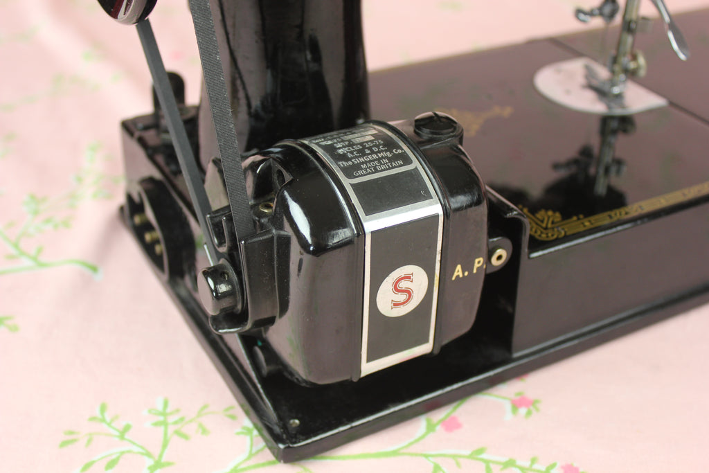 Singer Featherweight AP Motor Side View