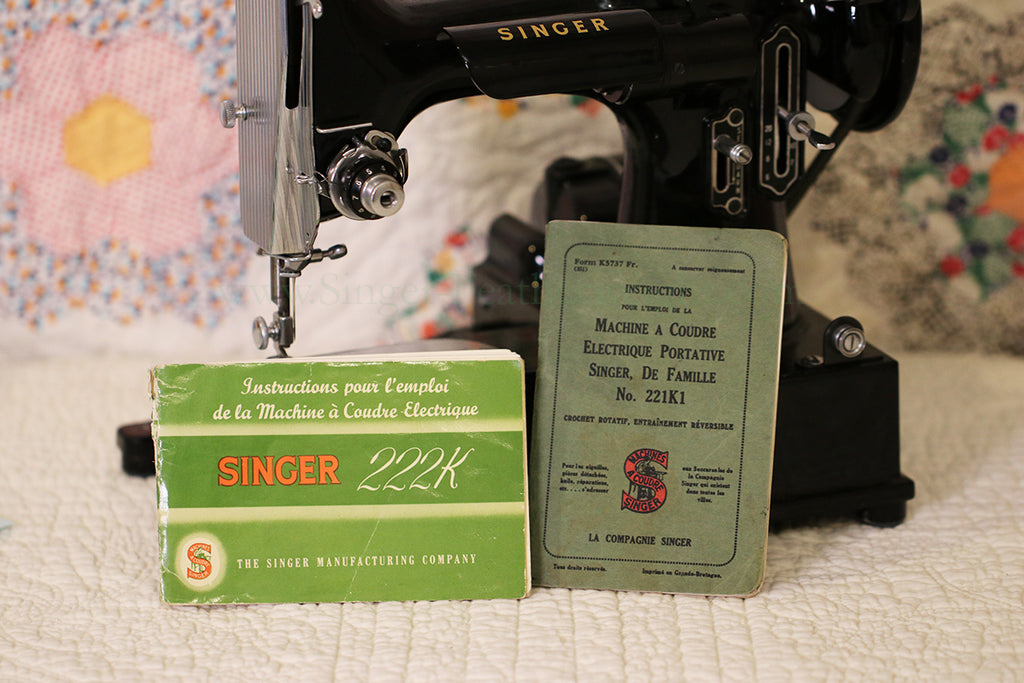 Singer Featherweight French Manuals