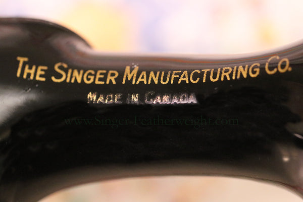 Singer Featherweight Made in Canada Arm Decal