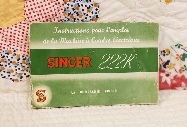 Singer Featherweight 222K French Manual