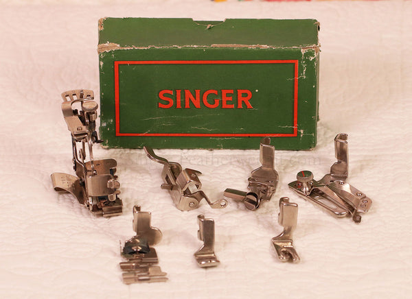 Singer Featherweight 222 Attachments Set in Green Box