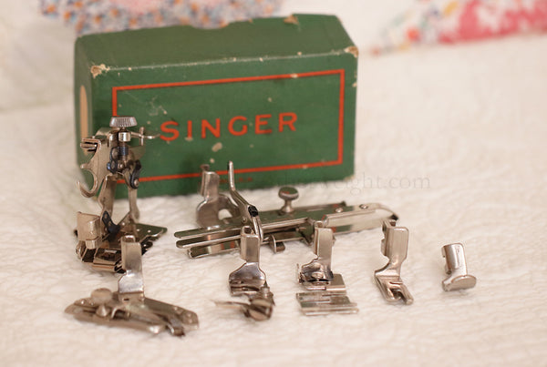 Singer Featherweight 221 Boxed Set of Attachments #1