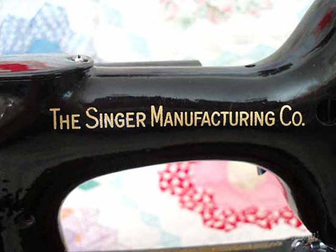 Singer Featherweight 221 Back Decal
