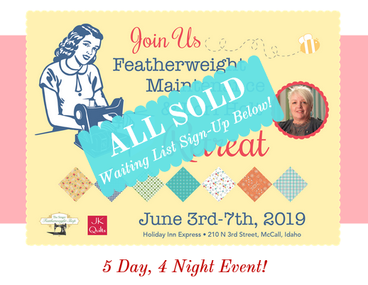 Sign Up for Waiting List for the Singer Featherweight Workshop + Lori Holt Retreat