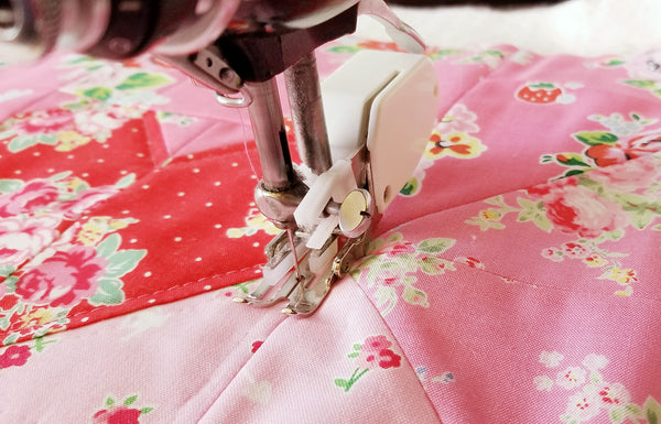 Quilting with a Walking Foot on the Singer Featherweight 221 or 222