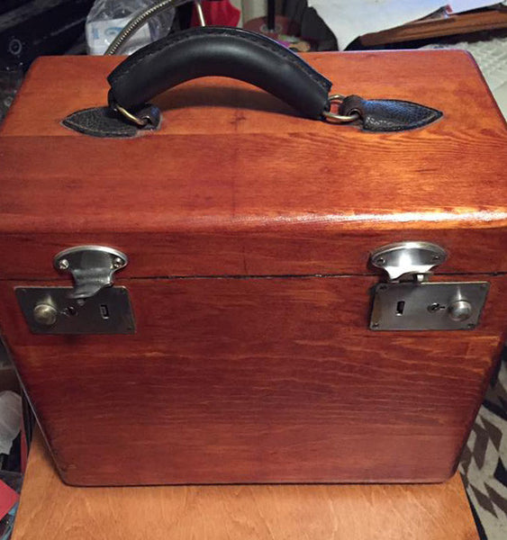 Lynda C.'s wood restored Featherweight case