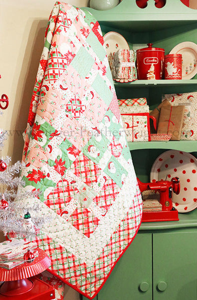 Quilt Kit, Swell Christmas Packages & Bows featuring Urban Chiks for Moda Fabrics