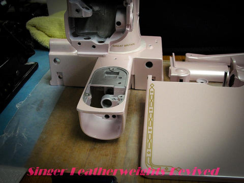Painted Pink Singer Featherweight 222K