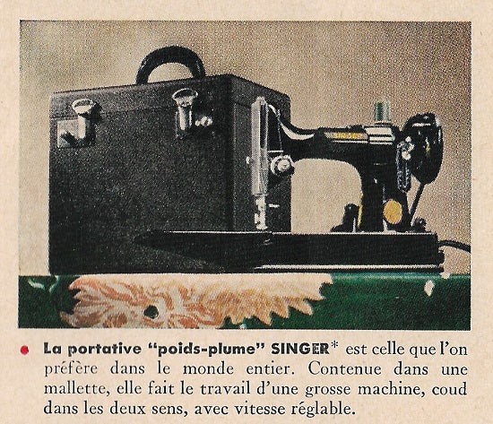 Singer Featherweight 221 Advertisement