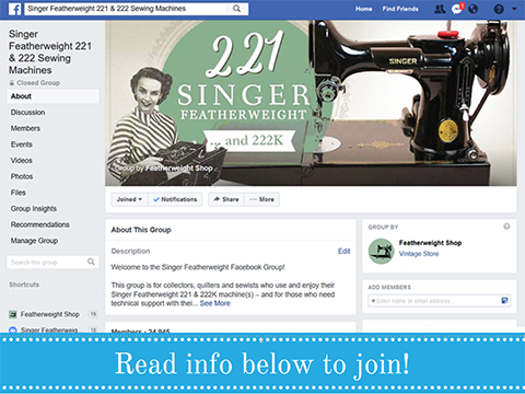 Singer Featherweight Facebook Group