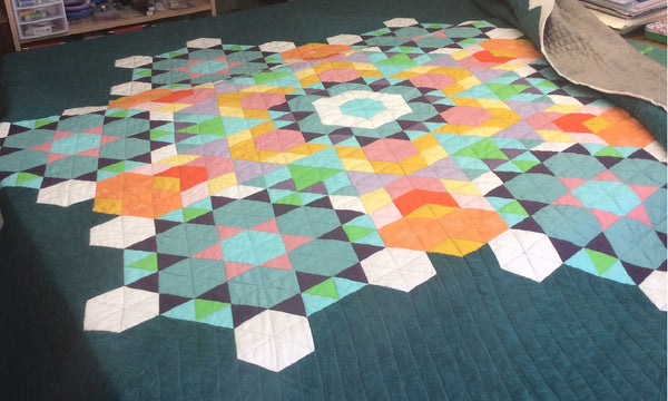 Quilting a King Size Quilt on a Singer Featherweight