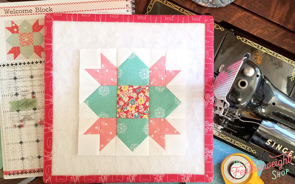 Farm Girl Vintage Sampler Quilt Sew Along with the Featherweight Shop