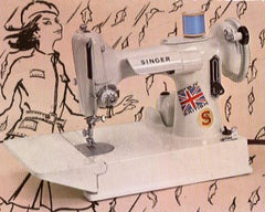 Singer Featherweight 221K White Advertisement