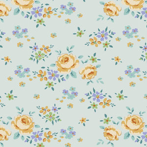 Fabric, Maple Farm Collection by Tilda -  GRACIE TEAL (by the yard)