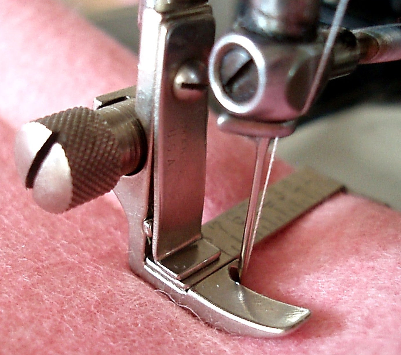 Slant Shank Roller Foot Sewing Machine Attachment