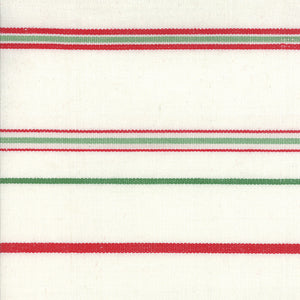 Fabric, 16-Inch Toweling by MODA - RED WHITE GREEN STRIPE (by the yard)