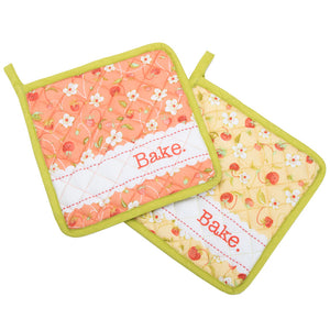 Set of 2 Pot Holders by Fig Tree & Co -  Chantilly