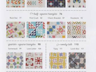 "Load image into Gallery viewer, PATTERN BOOK, Charm School - 18 Quilts from 5"" Squares by Vanessa Goertzen"