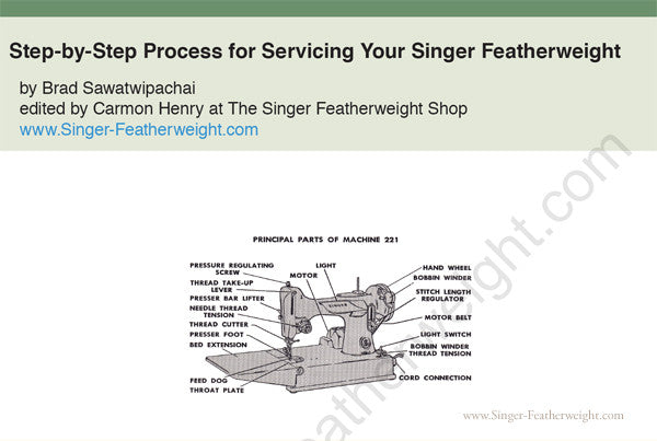 SINGER SEWING MACHINE FEATHERWEIGHT 221 TENSION THREAD BAR GUIDE