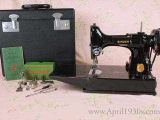 Load image into Gallery viewer, Singer Featherweight 221 Sewing Machine, BLACKSIDE AG004*** (SOLD)