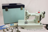 Singer Featherweight 221 Sewing Machine, WHITE EY848***ch
