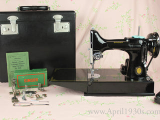 Load image into Gallery viewer, Singer Featherweight 221 Sewing Machine, French Centennial EG964***