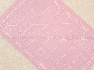 "Load image into Gallery viewer, Cutting Mat, MINI 5"" x 8"" Lori Holt Reversible (Pink & Blue)"
