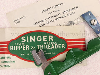 Load image into Gallery viewer, Needle Threader and Seam Ripper, Singer (Vintage Original)