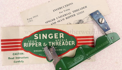 Needle Threader and Seam Ripper, Vintage Singer
