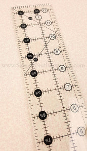 "Cutting Ruler, CREATIVE GRIDS 2 1/2"" x  12 1/2"" (with self-grips)"