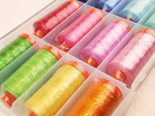 Load image into Gallery viewer, Aurifil Thread 50wt Cotton, HAPPY COLORS 12 Color SET Lori Holt
