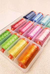 Aurifil Thread 50wt Cotton, HAPPY COLORS 12 Color SET Lori Holt